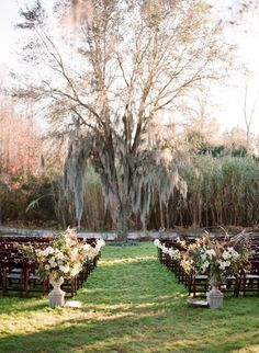 Wedding Ideas: outdoor-mossy-wedding-ceremony
