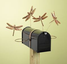 dragonfly gardens | DRAGONFLY MAILBOX POT HOLDER METAL YARD GARDEN PATIO - Ad#: 3118615 ...