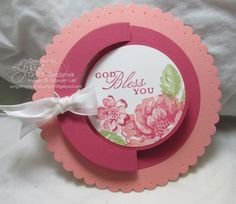 11/09/2013 Song of My Heart Stampers:   Mini Photo Tutorial: Scalloped Circle Flip Fold Cards  IMG_2358