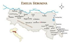 Where to Go in the Emilia Romagna Region: Emilia Romagna Region Map with Cities and Towns