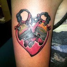 motorcycle heart engine tattoo - Szukaj w Google