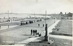 Seaton prom and green 1922 North East England, Old Pictures, Seaside, Past, Street View, Sky, History, Green, Photos