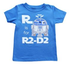 Toddler Star Wars R Is For R2D2 T-Shirt from T-Shirts.com for $19.99