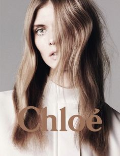 Malgosia Bela photographed by David Sims for the Chloé Spring 2011 advertising campaign. David Sims, Beauty Makeup, Hair Makeup, Hair Beauty, Locks, Chloe Fashion, Men's Fashion, Fashion Advertising, Advertising Campaign