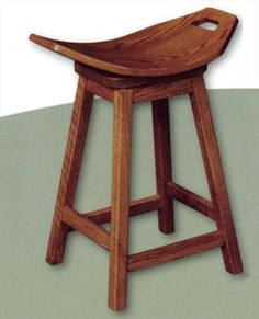 Amish Mission Swivel Stool Amish Furniture Oak or Cherry or QS Oak or Hard Maple or