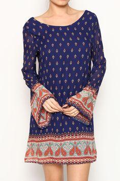 Boho Bordered Shift Dress – Moonshine & Lace