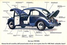 VW Käfer 1200 (1967) by jens.lilienthal, via Flickr