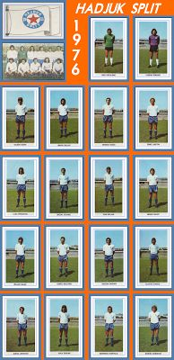 Old School Panini: Hajduk Split 1975 (et aussi Laws Of The Game, Association Football, Most Popular Sports, 1975, National Championship, Graphic Design Posters, Football Team, World Cup, Old School