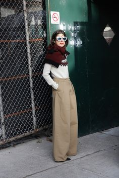 How to Wear a Sweater as a Scarf - Man Repeller