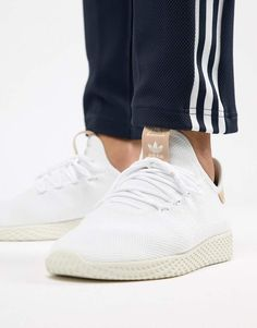 386df6cd8cc231 adidas Originals Pharrell Williams Tennis HU Sneakers In White CQ2169