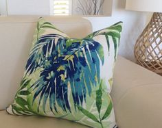 Tropical Cushion Covers Tropical Pillows by MyBeachsideStyle