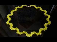 Колье на основе квадратного жгута. МК. Necklace: tutorial. DIY - YouTube