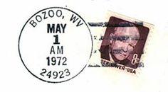 Printed matter - Postmark - Bozoo West  Virginia Printed Matter, Printed Materials, West Virginia, Ephemera, Typography, Printable Vintage, Printables, Writing, Sketchbooks