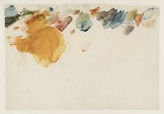 Joseph Mallord William Turner   [blotches of watercolour]  From Fonthill Sketchbook