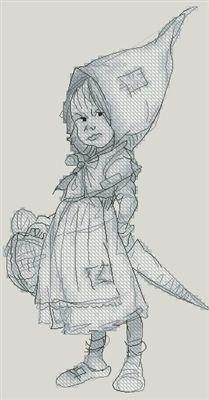Gnome Girl by Monge Jean-Baptiste