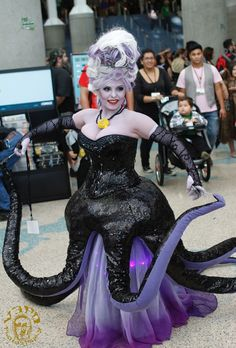 Ursula costume - the tentacles with wires added