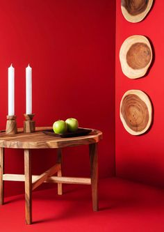 Photography by Frank Brandwijk I 'Kinta Wooden Plates' 'On Red'