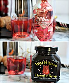 Celebrate New Year's Eve with this Rose & Hibiscus New Year's Eve Cocktail recipe - slightly sweet, ever so gorgeous!