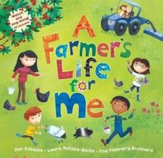 "Read (or sing along) with a family of six as they go about their day on their farm. They complete chores such as milking the cow, gathering the eggs, picking cherries, and raking hay, and the refrain for each verse is, ""1,2,3, it's a farmer's life for me."""