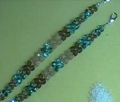 Found the tutorial for the Butterfly Kiss bracelet class that I took at Lucinda's Beads. This tutorial is called super easy cross weave bracelet by Off the Beaded Path.