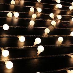 Ball String Lights,100 LED 33ft/10m Globe Fairy Lights Ch... as table runner outside decor - https://www.amazon.com/dp/B01LFE851A/ref=cm_sw_r_pi_dp_x_A5dpybQEDX7J3