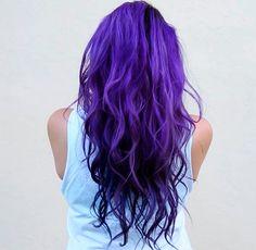 Verschiedene Schattierungen von lila Haarfarbe | Mode