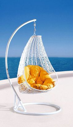 schicker h ngesessel in grau zum relaxen ein hit m bel pinterest h ngesessel schick. Black Bedroom Furniture Sets. Home Design Ideas