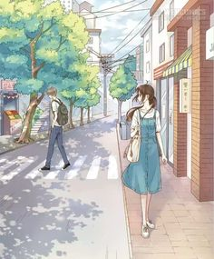 My nam Ji Chang Wook than thiet voi 'ban gai man anh' hinh anh 2 Cute Couple Art, Anime Love Couple, Cute Anime Couples, Cute Couple Sketches, Couples In Love, Aesthetic Art, Aesthetic Anime, Film Manga, 8bit Art