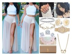 """""""Sessy"""" by aaliyahsalmon ❤ liked on Polyvore featuring Sugar NY, Bling Jewelry, Yves Saint Laurent, Rolex, Casetify and Cult Gaia"""