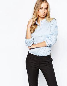 Mega lækre Y.A.S Elysia Longsleeve Shirt - Light blue Y.A.S Designer Brands til Damer i lækker kvalitet
