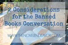 2 Considerations for the Banned Books Conversation - The Novel Endeavor