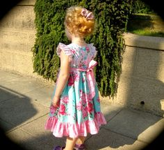 SALE...Buy 1 Get 1 Free...PDF Sewing Pattern Tutorial Antique Fair Girl's Vintage Style Flutter Sleeve Dress, Sizes 12-18 months through 6. $7.00, via Etsy. Pdf Sewing Patterns, Dress Patterns, Sewing Tutorials, Sewing Projects, Fair Girls, Classic Girl, Vintage Style Dresses, Cute Outfits For Kids, Sewing A Button