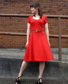 Red Las Margaritas dress - vogue 9668