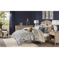 Hampton Hill Urban Chic King Size Bed Comforter Duvet Set Bed In A Bag Navy Gold Paisley 9 Piece Bedding Sets Cotton Bedroom Comforters -- Learn more by visiting the image link-affiliate link. Comforter Sets, Duvet, Bedroom Comforters, Classic Bedding Sets, Online Bedding Stores, Bed In A Bag, Ruffle Bedding, Space Furniture, Urban Chic
