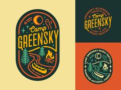 camp logo Camp Greensky logo design music festival greensky bluegrass festival m. Logo Festival, Music Festival Logos, Design Festival, Logo Branding, Branding Design, Corporate Branding, Brand Identity, Design Design, Camp Logo