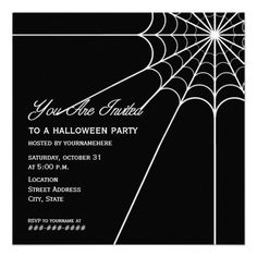 Spiderweb Halloween Party Invitation