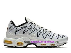 reputable site a1bdf 987e5 Nike Air Max Plus Tn Ultra Le Requin Baskets Camouflage Pas Cher Homme  Blanc Noir AJ6311