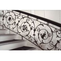 Samuel Yellin Grand Staircase Railing | From a unique collection of antique and modern architectural elements at https://www.1stdibs.com/furniture/building-garden/architectural-elements/