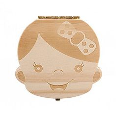 Anbaby Cute Personality Baby Teeth Box Save Wooden Boxes ...