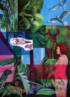 "Saatchi Art Artist Lengl Orsolya; Painting, ""Women in Jungle"" #art"