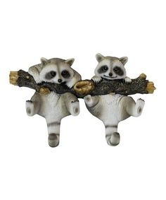 love this product Gray Raccoon Wall Hook De Leon Collections Wildlife Decor, Brown And Grey, Gray, Wall Hooks, Lion Sculpture, Owl, Collections, Raccoons, Foyer