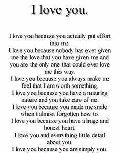 Top Why I love you quotes sayings Cute Love Quotes, Soulmate Love Quotes, Love Quotes For Her, Romantic Love Quotes, Love Yourself Quotes, True Quotes, Romantic Quotes For Boyfriend, Promise Quotes, Romantic Things