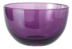 Glas-Schale, Delia, lila Transparent, 18 cm
