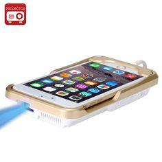 Mini DLP Projector 'iBeam i60+' - Projector For iPhone 6, 6 Plus, 6S, 854x480 Resolution, 80 Lumen, 2400mAh Battery