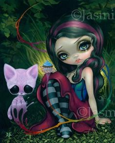 Big Eyed Art from Jasmine Becket-Griffith by strangeling @eBay by mai