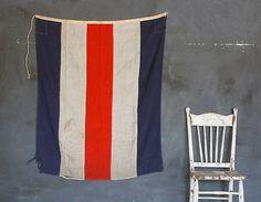 Large Vintage signal flag. C for charlie