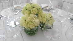 Centre de table roses blanches de Fleurs Design by Faustine | Photos