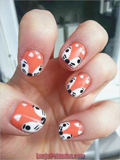 Image via Cartoon Nail Art Designs Image via Nail Art For All is your one stop App for everything related to Nail art. With over 20 K+ Nail art designs and Nail art tutorials to choose fr So Nails, Cute Nails, Pretty Nails, Winter Nail Art, Winter Nails, Nail Art Diy, Cool Nail Art, Nail Art For Kids, Animal Nail Art