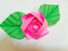 折り紙 バラの花のバスケット 簡単な折り方(niceno1)Origami Roses flower basket - YouTube