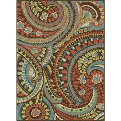 Red Barrel Studio Heimbach Paisley Brown/Grey Area Rug Rug Size: Rectangle x Area Rug Sets, Teal Area Rug, Paisley Rug, Paisley Pattern, Transitional Area Rugs, Power Loom, Throw Rugs, Brown And Grey, Rug Size